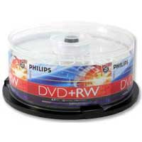 Philips DVD+RW 4x 4.7 GB/120 Minute Disc 25-Pack Spindle