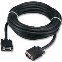 QVS VGA Male to VGA Female Adapter Cable 25 ft. - Black