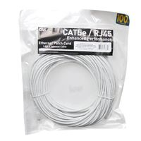 QVS CAT 5e Snagless Network Cable 100 ft. - White