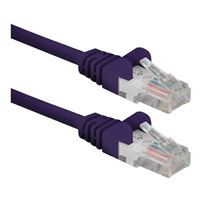 QVS CAT 6 Snagless Network Cable 100 ft. - Purple