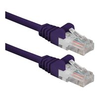 QVS CAT 6 Snagless Network Cable 75 ft. - Purple