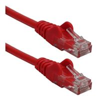 QVS CAT 6 Snagless Crossover Network Cable 7 ft. - Red