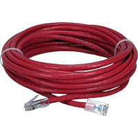 QVS CAT 6 Snagless Crossover Network Cable 14 ft. - Red