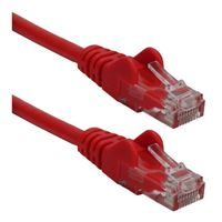 QVS CAT 6 Snagless Crossover Network Cable 50 ft. - Red