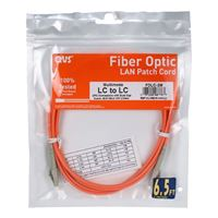 QVS LC to LC Multimode Fiber Duplex Patch Cable 16.4 ft. - Orange