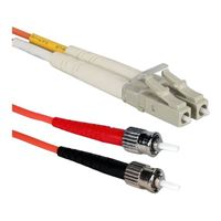 QVS LC to ST Multimode Fiber Duplex Patch Cable 16.4 ft. - Orange