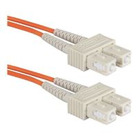QVS SC to SC Multimode Fiber Duplex Patch Cable 16.4 ft. - Orange