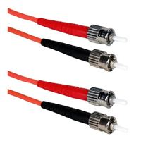 QVS ST to ST Multimode Fiber Duplex Patch Cable 16.4 ft. - Orange