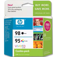HP 95/98 Tri-color/Black Ink Cartridge (CB327FN) 2-Pack