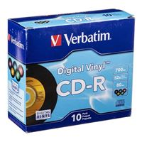 Verbatim CD-R 52x 700 MB/80 Minute Disc 10-Pack Jewel Case