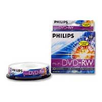Philips Mini DVD-RW 2x 1.4GB/30 Minute Disc 10-Pack Spindle