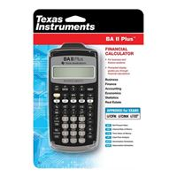 Texas Instruments BAII PLUS Business Calculator