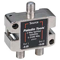 Paladin Tools 2-Way Satellite TV Splitter