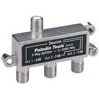 Paladin Tools 3-Way Cable TV Splitter