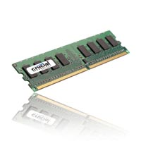 Crucial 1GB DDR2-667 PC2-5300 CL5 Single Channel Desktop Memory Module - Green