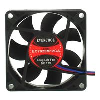 Evercool EC7015M12CA Ball Bearing 70mm Case Fan