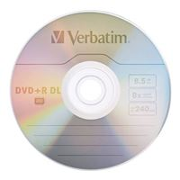 Verbatim DVD+R DL 8x 8.5 GB/240 Minute Disc 30-Pack Spindle