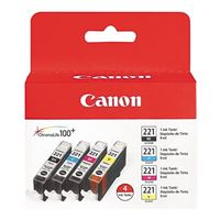Canon CLI-221 Color Cartridge Value Pack