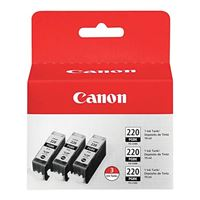 Canon PGI-220BK Black Ink Cartridge 3-Pack