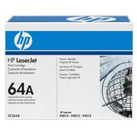 HP 64A LaserJet Black Toner Cartridge