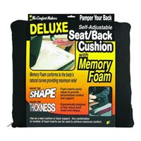 Master Caster ComfortMakers Deluxe Seat/Back Cushion Black