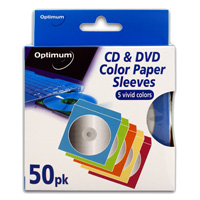 Optimum CD Color Paper Sleeves 50 Pack