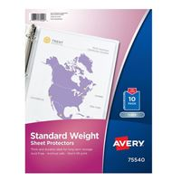 Avery 75540 Clear Standard Weight Sheet Protectors