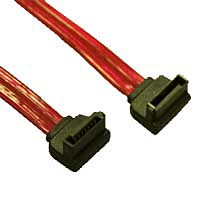 "Evercool 18"" Sata Right Angle Cable - Red"