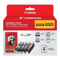 Canon PGI-220, CLI-221 Ink and Paper Combo Pack