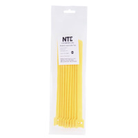 "NTE Electronics Hook and Loop Cable Ties 10"" Yellow 10 pack"