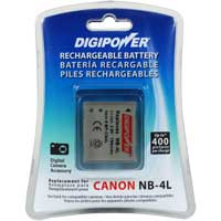 Digipower BP-CN4L Replacement Li-Ion Battery for Canon NB-4L