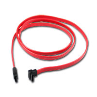 CP Technologies ClearLinks Right-Angle 7-Pin SATA Female to Straight Angle 7-Pin SATA Female SATA II Data Cable 36 in. - Red