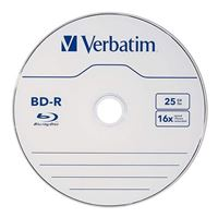 Verbatim BD-R 16x 25 GB/135 Minute Disc 10-Pack Cake Box