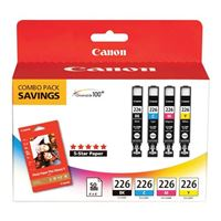 Canon CLI-226 & Photo Paper Plus Glossy II Combo Pack