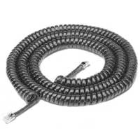 RCA RJ-11 Male to RJ-11 Male Phone Handset Coil Cord 25ft. - Black