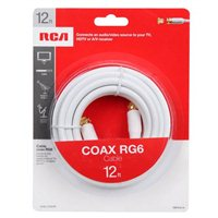 RCA Coax Male to Coax Male RG-6 Cable 12 ft. - White