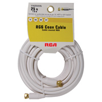 Audiovox Electronics Coax Male to Coax Male RG-6 Cable 25 ft. - White