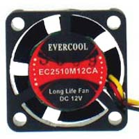 Evercool EC2510M12CA Ball Bearing 25mm Case Fan