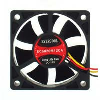 Evercool EC6020M12CA Ball Bearing 60mm Case Fan