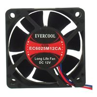 Evercool EC6025M12CA Ball Bearing 60mm Case Fan
