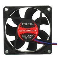Evercool EC7025M12CA Ball Bearing 70mm Case Fan
