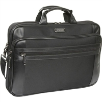 "Kenneth Cole Laptop Briefcase fits Screen up to 18.4"" - Black"