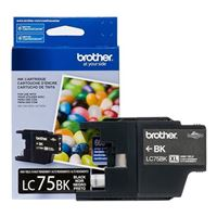 Brother LC752PKS 2 Pack of LC-75BK Cartridges Ink - Retail Packaging