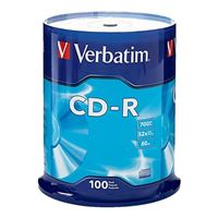 Verbatim CD-R 52x 700 MB/80 Minute Disc 100-Pack Spindle