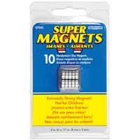 "Master Magnetics 0.315"" x 0.118"" Neodymium Disc Super Magnets 10 Pack"
