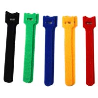 NTE Electronics Hook and Loop Cables Ties 8 Pack