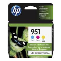 HP 951 Color Ink Cartridge Combo Pack