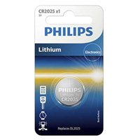 Philips CR2025 3 Volt Lithium Coin Cell Battery - 1 Pack