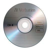 Verbatim CD-R 52x 700 MB/80 Minute Disc 50-Pack Shrink Wrap