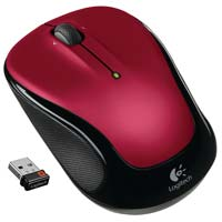 Logitech M325 Wireless Optical Mouse - Red